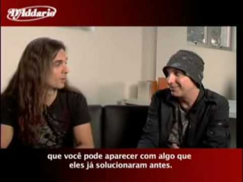 Kiko Loureiro Of Angra Interviews Joe Satriani Backstage In