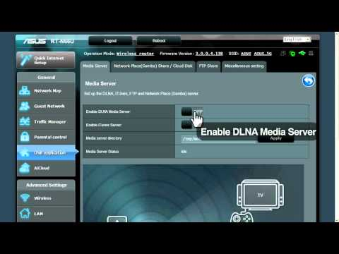 ASUS router quick how-to: DLNA media server tutorial