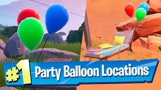 Pop Party Balloon Decorations Locations - Fortnite 14 Days Of Summer Challenge