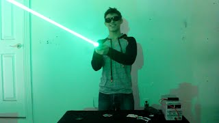 My Homemade BEAST 1.25W Green Laser Sword!!!