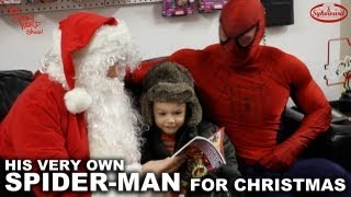 Little Boy Gets Real-Life Spider-Man for Christmas