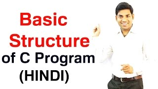 Basic Structure of C Program (HINDI)