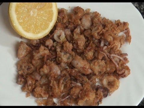 Puntillitas (calamares chiquititos) Vídeo receta 149 Aquí cocinamos todos. Cooking recipe