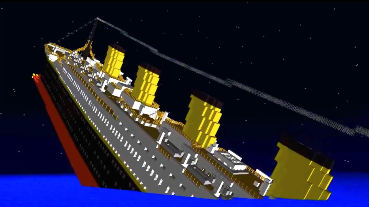 Minecraft el titanic hundiendose youtube for I salonisti titanic