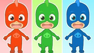 FIVE LITTLE BABIES 🎶 with Colored Superhero | Educational Songs | Learning by Singing and Dancing