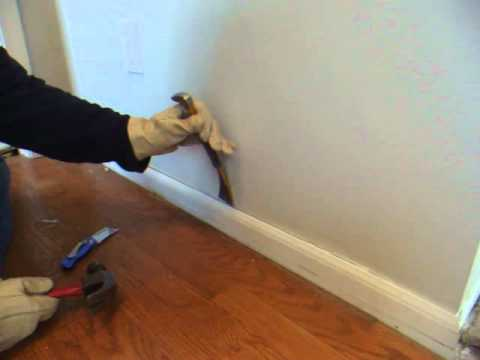 How To Remove Wood Molding Quarter Round Baseboard