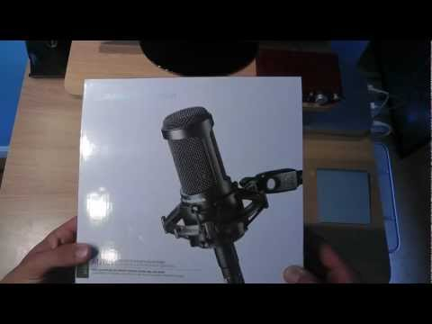 Audio Technica AT2035 Cardioid Condenser Studio-Recording Microphone Unboxing & Review