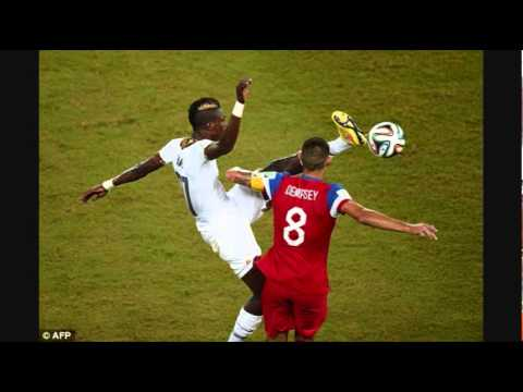 USA vs Ghana defender John Boye kicks Clint Dempsey in the face [REVIEW]
