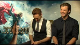 Chris Hemsworth and Tom Hiddleston Talk Natalie Portman