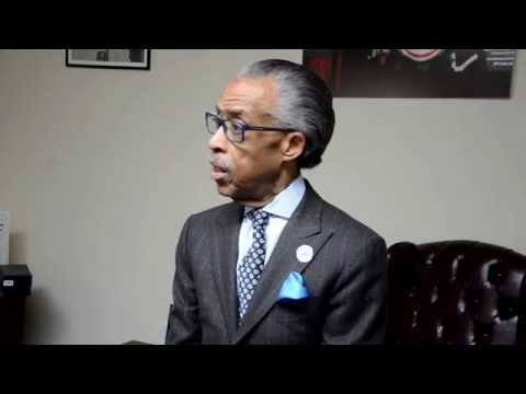 Young Students talk about Fred  Doug  with Rev  Sharpton