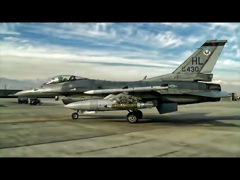 Launching F-16 Fighter Jets At Bagram Airfield Afghanistan