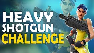CHALLENGE - HEAVY SHOTGUN ONLY | DAEQUAN CRAZY IMPULSE DOUBLE KILL - (Fortnite Battle Royale)