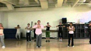 Quick Choreo: Tari Mannello and class dancing to Pitbull at Cal Lutheran , 2006