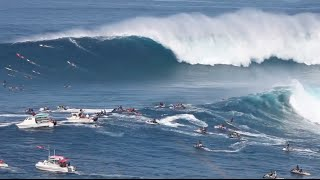 Biggest Paddle-In Session Ever at Jaws on Maui