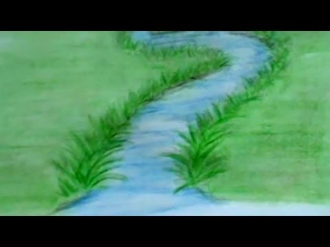 How To Draw A River With Colored Pencils: Lesson 3