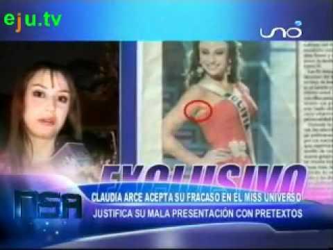 Claudia Arce acepta fracaso en el Miss Universo y dice su verdad  Viva Bolivia Unida Carajo !!!