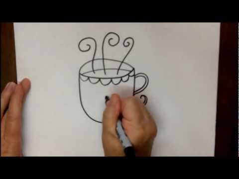 Coffee Mugs Drawing How to Draw a Coffee Cup Step