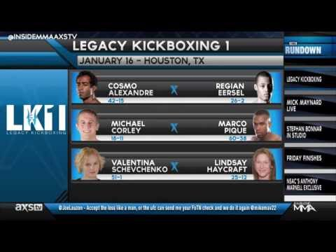 Legacy Fights Announces Their First Kickboxing Event Coming in January to AXS TV