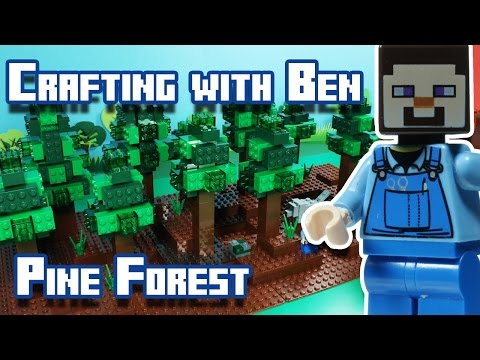 Crafting with Ben   Minecraft - Taiga Pine Trees Forest