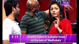 Madhubala - Ek Ishq Ek Junoon : Madhu aka  Drasthi Dhami in a playful mood on the sets
