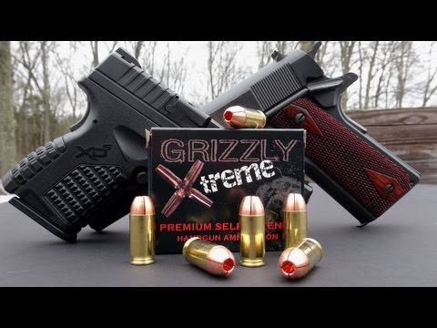 GRIZZLY XTREME .45 ACP +P AMMO TEST!!!