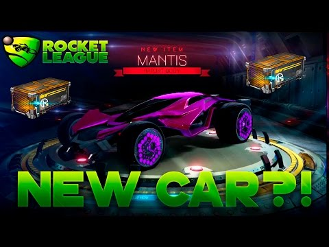 ROCKET LEAGUE NITRO CRATE OPENING NEW CAR MANTIS??! CRATE AND CAR SHOWCASE