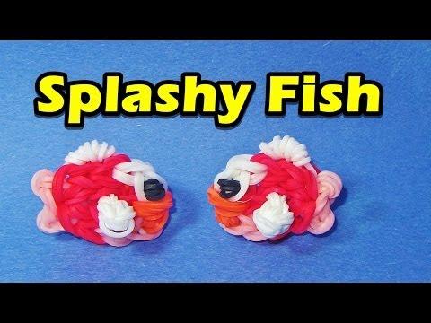 Rainbow Loom FISH (Splashy Fish) Charm (Easy. Flappy Bird. Gumičky návod)