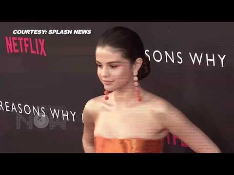 Selena Gomez STUNS At '13 Reasons Why' Premiere   Netflix Red Carpet thumbnail
