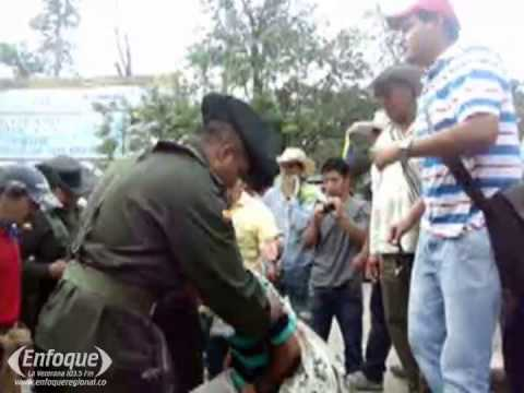 Al menos 11 heridos en enfrentamientos en El Cruce L íbano-Armero en primer día de paro cafetero