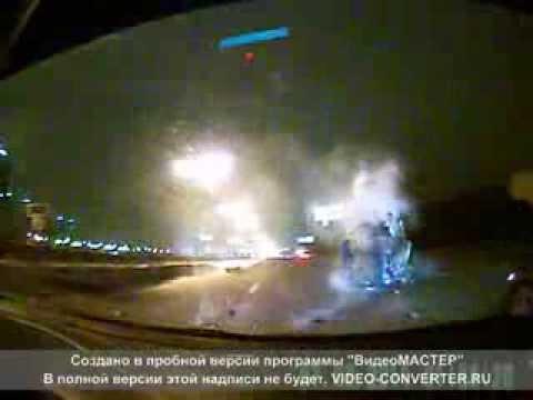 Авария ДТП на МКАДе 22.12.2013 внутренняя сторона 3-й киллометр