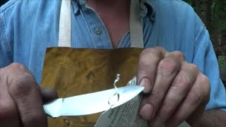 Hand Forged Skinning Knife For Vin