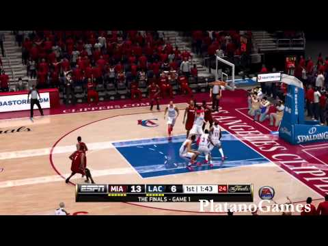 NBA Live 14 PS4 - NBA Finals 2014 - Miami Heat vs Los Angeles Clippers - 1st Qrt - HD