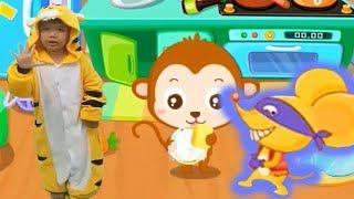 Kỹ năng cho bé tập 7 dọn dẹp nhà bếp hoạt hình vui nhộn Kênh trẻ em - video cho bé yêu