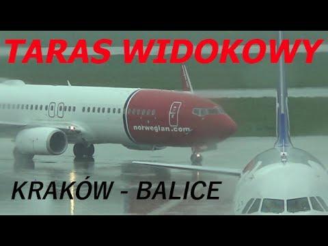 Nowo Otwarty Taras Widokowy Na Lotnisku W Krakowie - Balice (60 Fps)
