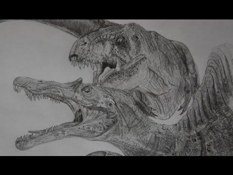Spinosaurus vs t Rex Drawing T-rex/spinosaurus Speed Draw