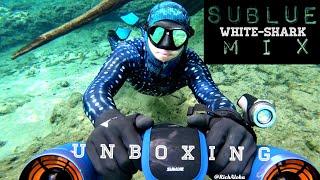 ~ U N B O X I N G ~ Futuristic Tech #SUBLUE White-Shark Mix Underwater Scooter! PROMO CODE!