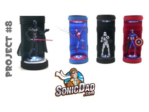 Action Figure Display Stand - SonicDad  Project #8