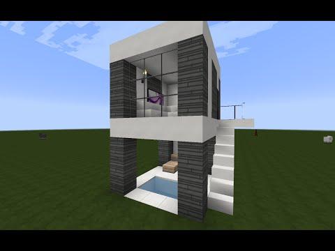 Minecraft como hacer una casa moderna for Como aser una casa