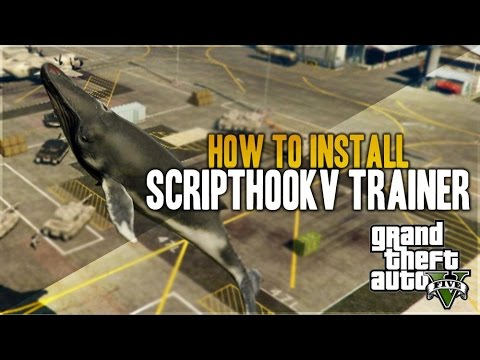GTA 5 MOD - FLYING WHALES!! How to Install GTA 5 PC ScriptHookV Native Trainer! (GTA 5 Mods)