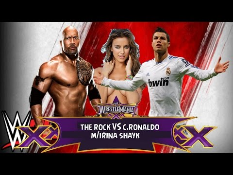 CRISTIANO RONALDO vs THE ROCK feat. Irina Shayk | WWE 2k15
