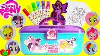 My Little Pony Stamp Art Activity Case and Surprises