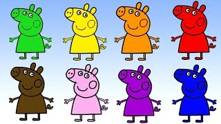 Learn colors with Pepa Pig play for toddlers prescool educational video