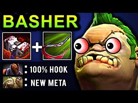 PUDGE BASHER DOTA 2 PATCH 7.07 NEW META PRO GAMEPLAY