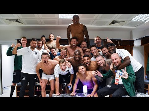 Раздевалка «Краснодара» после победного матча против «Акхисарспора»