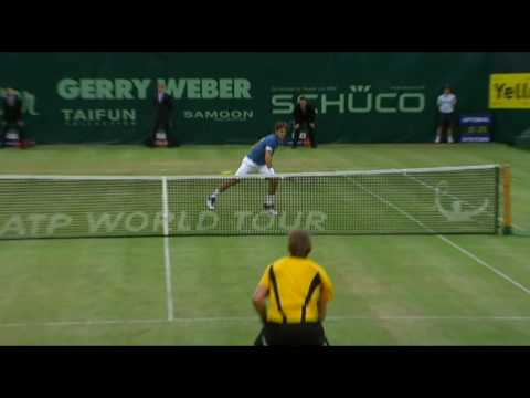 [Federer vs Nieminen] - Point of the match - Halle 2010