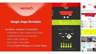 Mimo Single Page Portfolio | Themeforest Website Templates and Themes