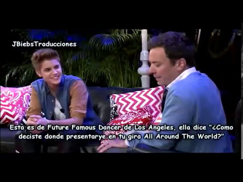 Justin Bieber And Jimmy Fallon  YouTube Presents Parte 13 Espaol HD