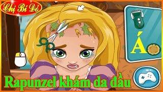 Chị Bí Đỏ làm bác sĩ khám da đầu và tóc cho công chúa tóc mây Rapunzel - Trò Chơi Bác Sĩ