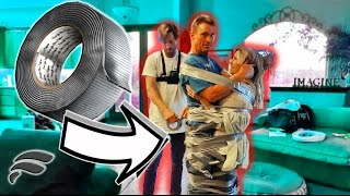 DUCT TAPED OUR PARENTS TOGETHER! *PRANK*