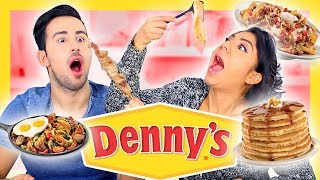 Trying DENNY'S Taste Test!